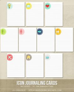 super cute *NEW* Icon Project Life Journaling Cards (Digital) : In a Creative Bubble