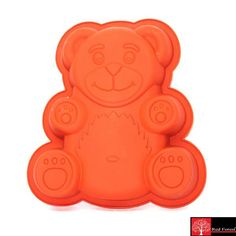 Red Forest Silicone Teddy Bear Cake Mould Brown