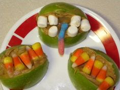 Apples, peanut butter & candy favorite to decorate