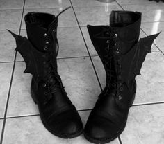 Bat wing boots, so adorable