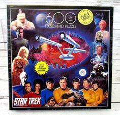 Vintage Star Trek F X Schmid Puzzle 600 Pieces Sealed New In Box 1993 90041 #Vintage #Schmid #Puzzle #600Pieces #1993