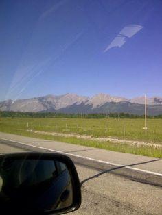 Mountains in British Columbia Car Mirror, British Columbia, Earth, Mountains, World, Nature, Travel, The World, Voyage