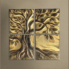 handmade, ceramic wall art tile by Natalie Blake