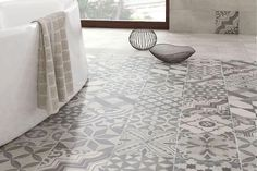 Buy 1920 tiles professionally sourced by Tons of Tiles from leading manufacturers from around the world. Samples available from Floor Patterns, Tile Patterns, Bathroom Floor Tiles, Tile Floor, Small Toilet Room, Downstairs Toilet, Grey Tiles, Grey Bathrooms, Grey Pattern