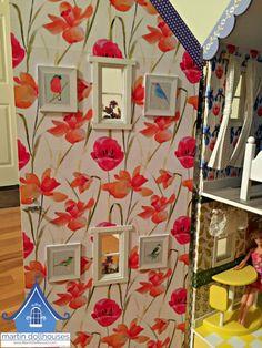 martin-dollhouse-alpine-wallpaper-for-front-closure Dollhouse Kits, Kit Homes, Dollhouses, Beautiful Dolls, Miniatures, Closure, Wallpaper, Holiday Decor, Blog