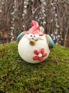 Diese Gartendeko macht froh! https://de.dawanda.com/product/95563451-vogel-steckvogel-gartenkeramik