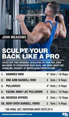 Follow this high-volume workout by John Meadows if you're trying to sculpt a thick, wide back!