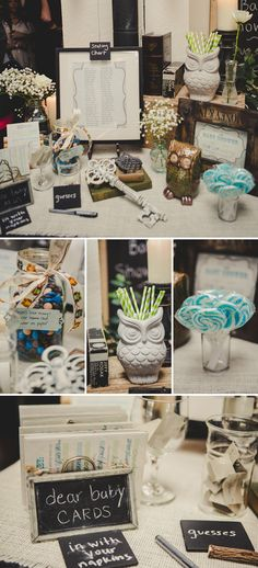 Rustic Owl Themed Baby Shower (and I'm kinda in love with this website ... www.ontobaby.com)