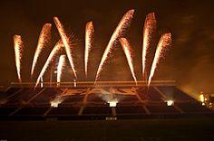 Zambelli Fireworks at Florida Atlantic University stadium.