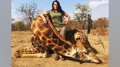 Hunter and prostitute, Sabrina Corgatelli is facing criticism for posting a photo of a giraffe she killed on a legal hunt in South Africa.