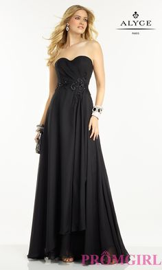 Prom Dresses, Plus Size Dresses, Prom Shoes: Alyce Long Strapless Sweetheart Prom Dress