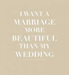 If to choose between beautiful wedding or beautiful marriage!