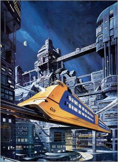 Monorail in Future City.  www.AmericaUSARealEstate.com