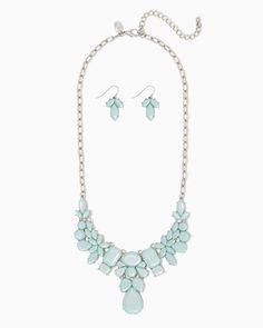 charming charlie | Olivia Statement Necklace Set | UPC: 410007585149 #charmingcharlie