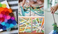 7 Magnifiques activités de peinture et collage à faire avec les enfants! Kids Zone, Crochet Necklace, Activities, Crafts, Visual Arts, Montessori, Collages, Animation, School