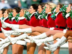 The New York Jets cheerleaders perform before the game against the Tennessee Titans in East Rutherford, N.J. The Jets defeated the Titans 30-8.  Brad Penner, USA TODAY Sports