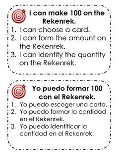 This product includes:-I can statements in English and Spanish-Math Talk student prompts in English and Spanish-Rekenrek/100 Bead Rack Cards from 0-50 (which can be flipped over to show 51-100)