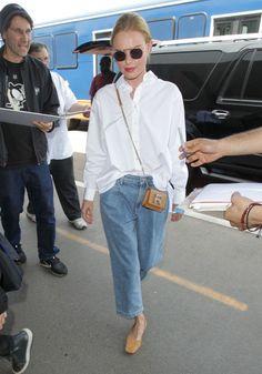 Toteme white shirt, boyfriend jeans