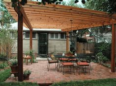 Build a Pergola in Your Backyard with One of These 13 Free Plans: Wood Pergola Plan by HGTV