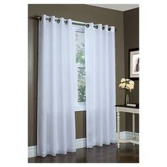 Zipcode Design Irene Solid Semi-Sheer Thermal Grommet Single Curtain Panel Size per Panel: L x W, Color: Ivory Voile Panels, Window Panels, Curtain Panels, Window Coverings, Grommet Curtains, Drapes Curtains, Target Curtains, Nursery Curtains, Drapery