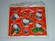 Vintage Sanrio 1981 Hello Kitty Puffy Stickers by CanUFraggleRock, $32.00