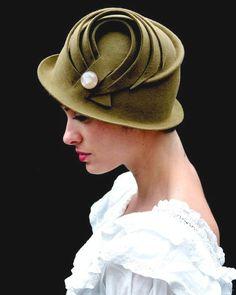 beautiful felt hat #millinery #judithm #blocking