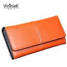 Real Genuine Leather Hasp Wallet Women Luxury Brand High Quality Long Clutch Coin Pocket Purse Fashion Designer Long Card Holder