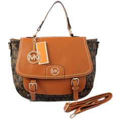 Michael Kors Logo Medium Coffee Totes Outlet