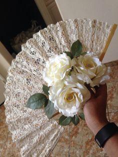 Bridal fan bouquet