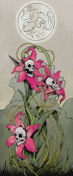 Skull flowers