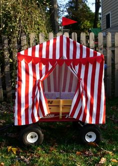 """Looking for """"circus tent"""" fabric (wide striped pattern) - Authors Denise & Alan Fields / Windsor Peak Press Book Forums"""