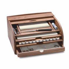 Walnut Rolltop Letter and Document Storage_04