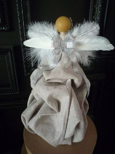 Custom Angel Tree Topper by MilkTea. This item is customizable, you can choose hair color, dress color, and skin tone. Please Convo me for any details or questions you may have.  This item is not a toy and should not be played with by small children.