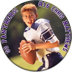 Custom Photo Sports Button #AffordableButtons Football