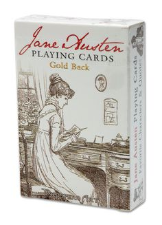 Jane Austen Playing Cards 2 Pack Copper Gold Back Bridge Prospero Art Jane Austen Books, Jane Eyre, Jane's Addiction, English Games, Character Quotes, Quirky Gifts, Hallmark Movies, Pride And Prejudice, Movies