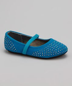 Look what I found on #zulily! Turquoise Stud Elastic Flat by Ositos Shoes #zulilyfinds