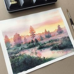 Watercolorist: @leowdrawingclass  #waterblog #акварель #aquarelle #painting #drawing #art #artist #artwork #painting #illustration #watercolor #aquarela