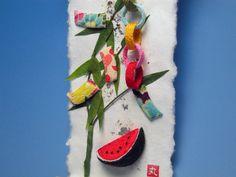 Star Festival chirimen,Japanese kimono fabric