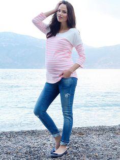 10 jeans de maternidad con estilo - BabyCenter  #embarazo