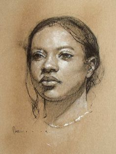 """Mariah"" by Josh Clare, female portrait drawing."