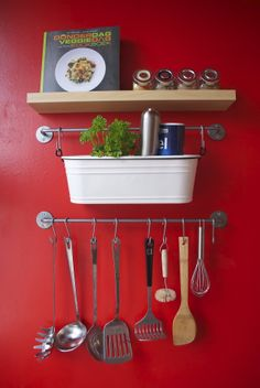Small kitchen organization  I have that dang thing from Ikea! Never knew what to…