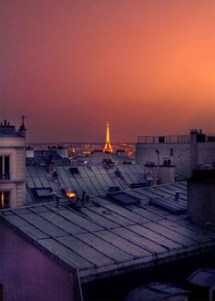 A summer night on the roofs of Paris