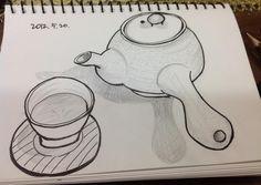 tea pot and teacup.