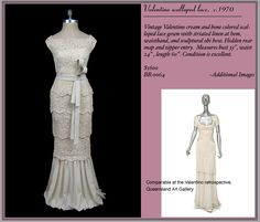 If I could afford $5600....AND  a 26 inch waist.... PERFECT....Exquisite+Vintage+Bridal+Gowns+from+The+Frock....