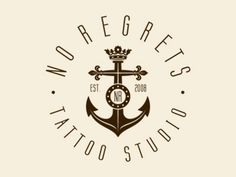 """Love the font and how it is symmetrical. I also like how the anchor is attached to the crown with the logo """"NR"""" located in the middle of the anchor."""
