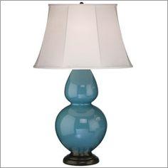 Beautiful peacock blue lamp