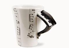 Piano | Music | Coffee Mugs | Blue Witch Ceramics