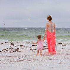 Mommy and me beach scene toddler girl and mom in long dress. Katyavilchyk.com