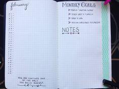 finally set up my bullet journal.