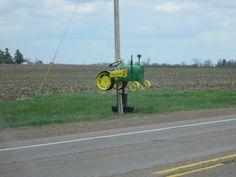John Deere tractor mailbox Hwy 10 towards Neillsville WI